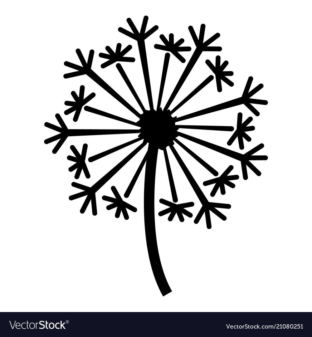 Dandelion icon simple style