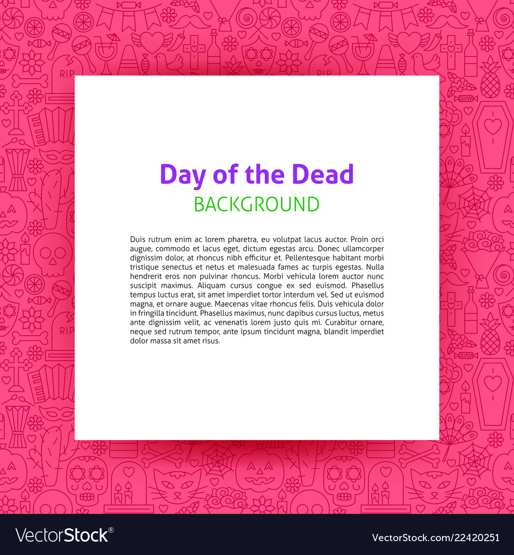 Day of the dead paper template