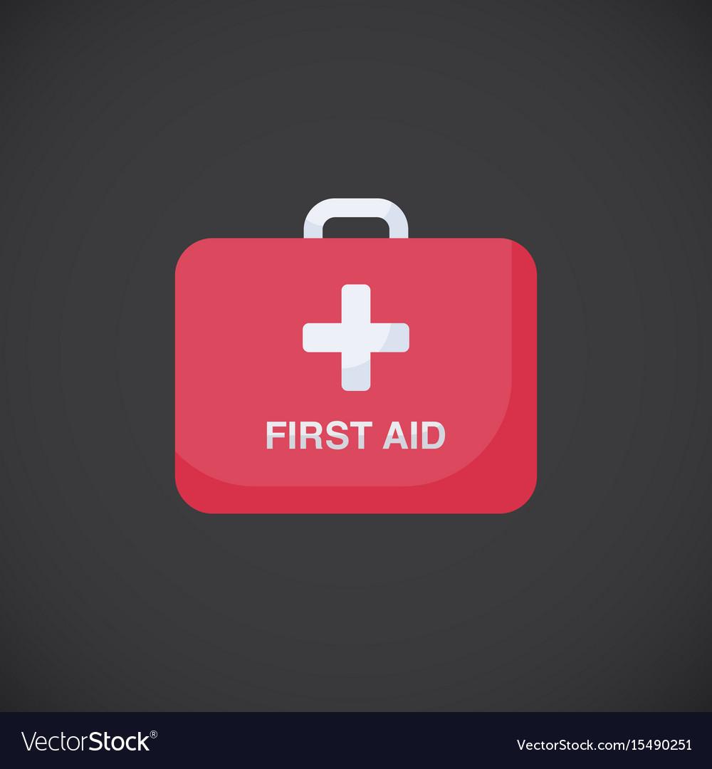 First aid kit box flat icon