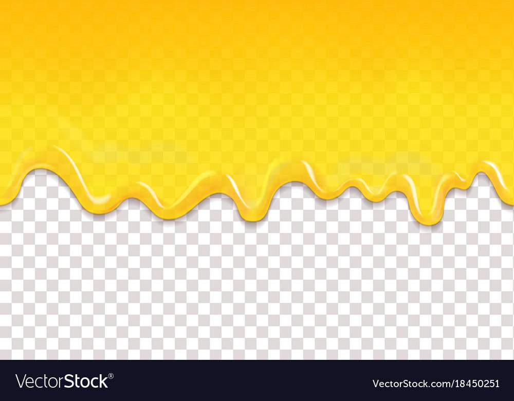 Lemon or honey jelly drops seamless pattern