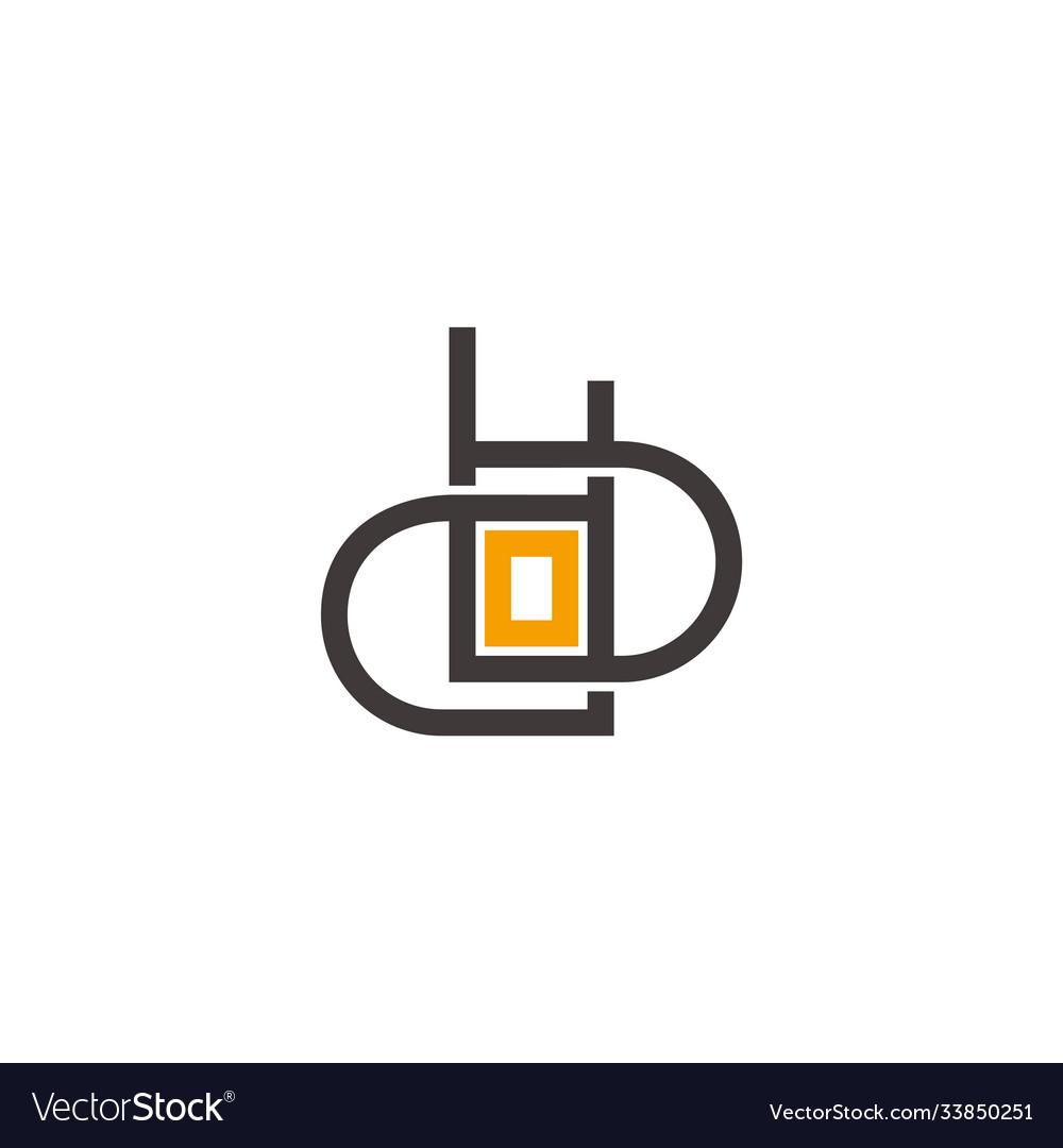 Letter db geometric square lines art linked logo