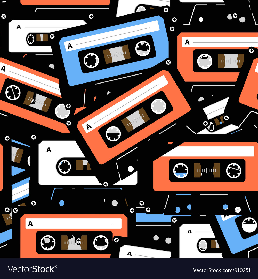 Music recordable cassettes seamless background
