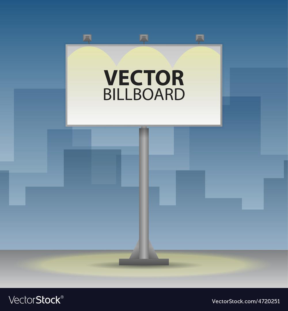 Outdoor billboard at night vector image