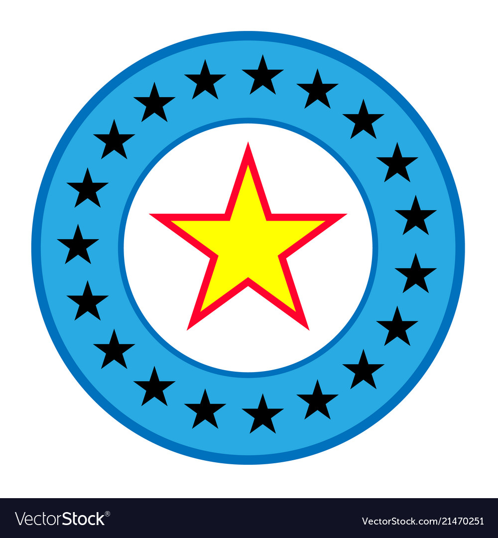Stars in circle icon on white background stars in
