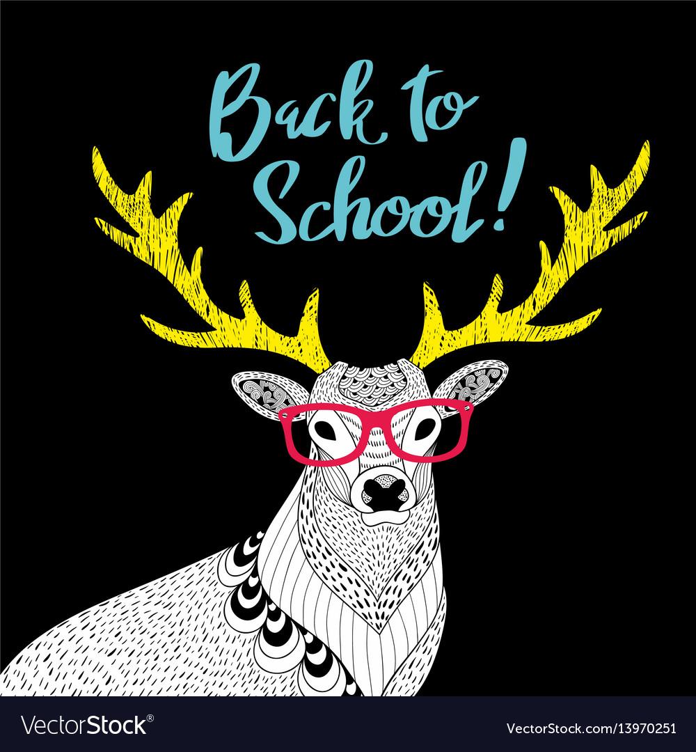 Teacher deer print