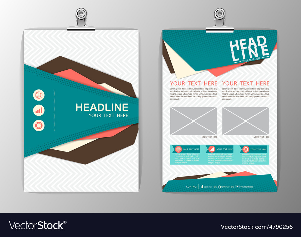A4 Abstract Background polygon design Business vector image