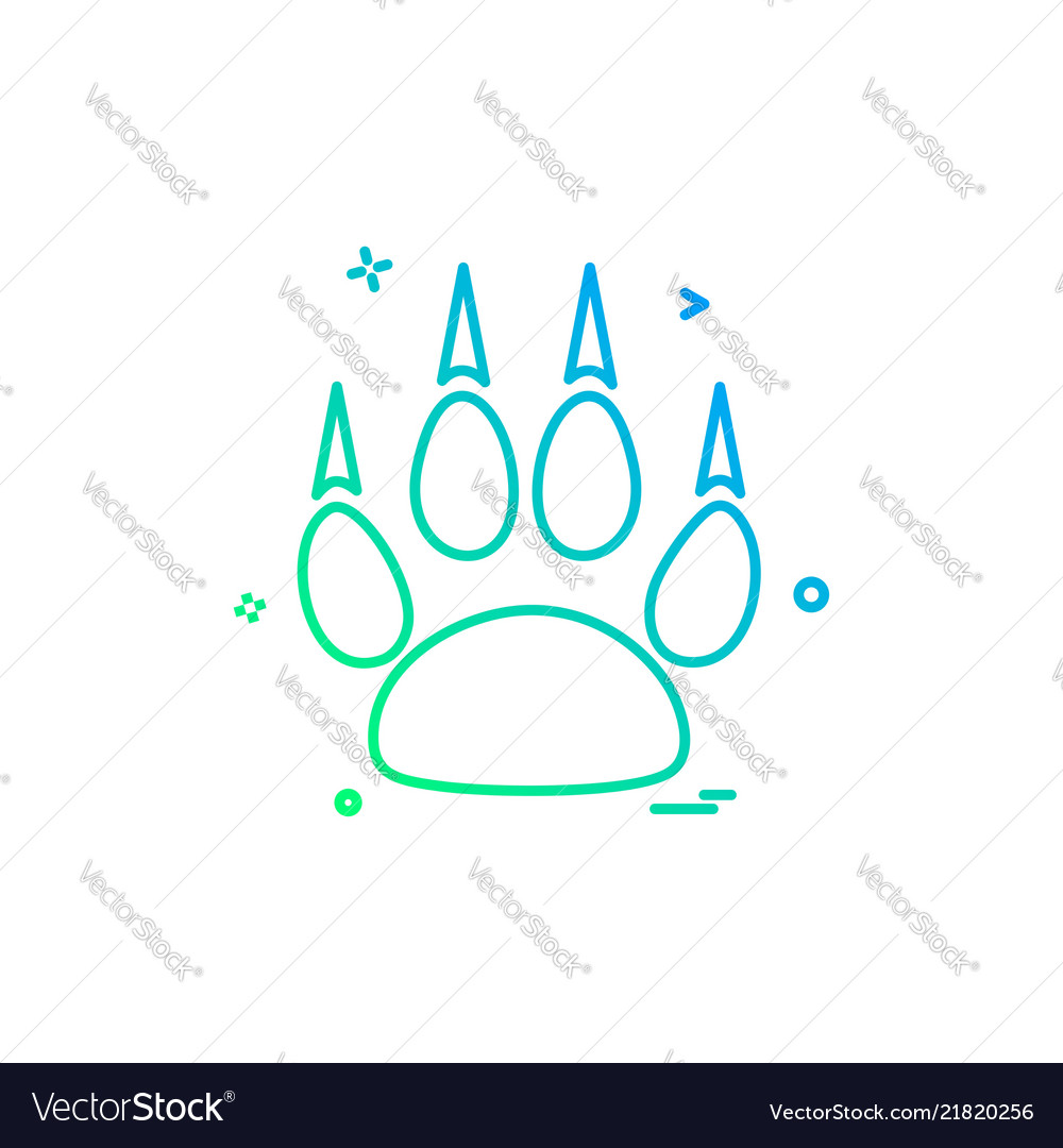 Animal paws icon design