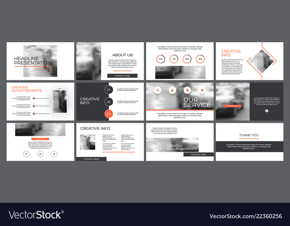 business presentation templates from infographic vector image