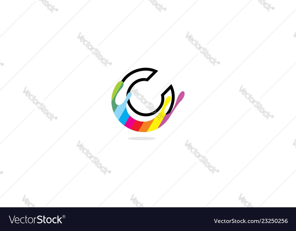 Initial c paint logo icon