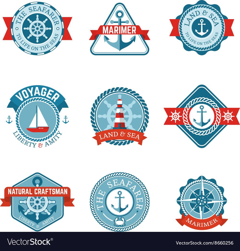 Nautical Label Set