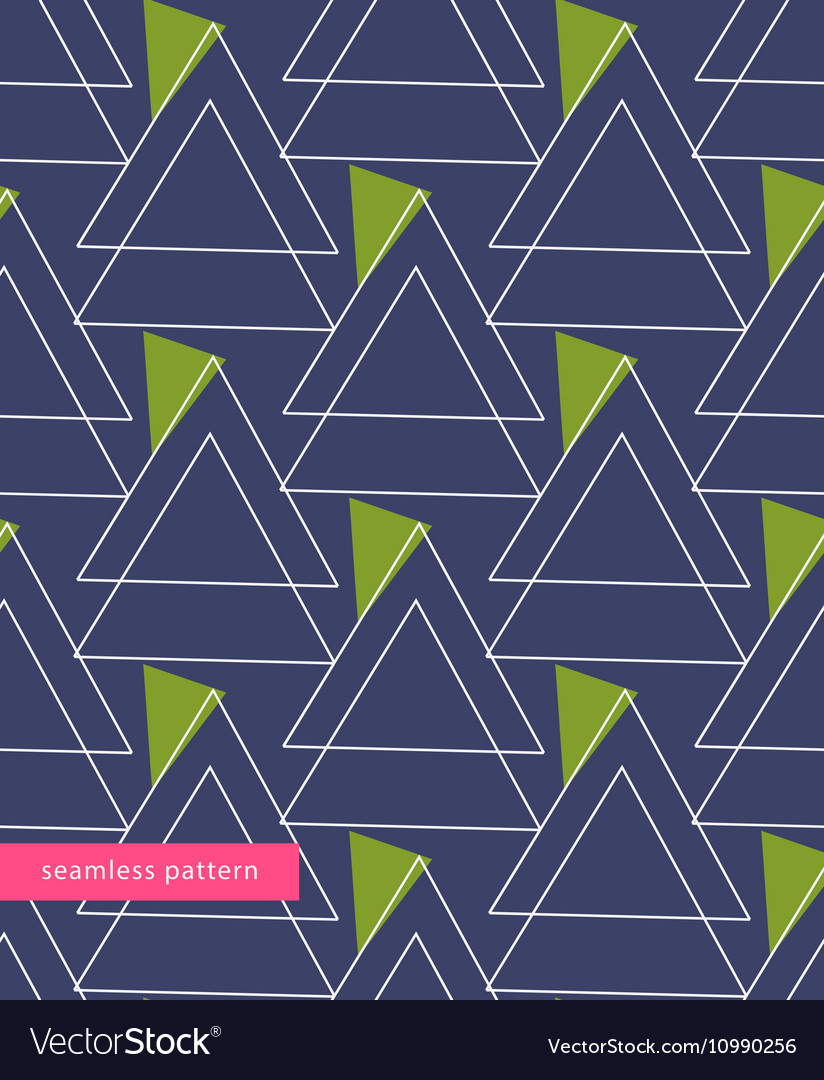 Seamless pattern linear triangles forming