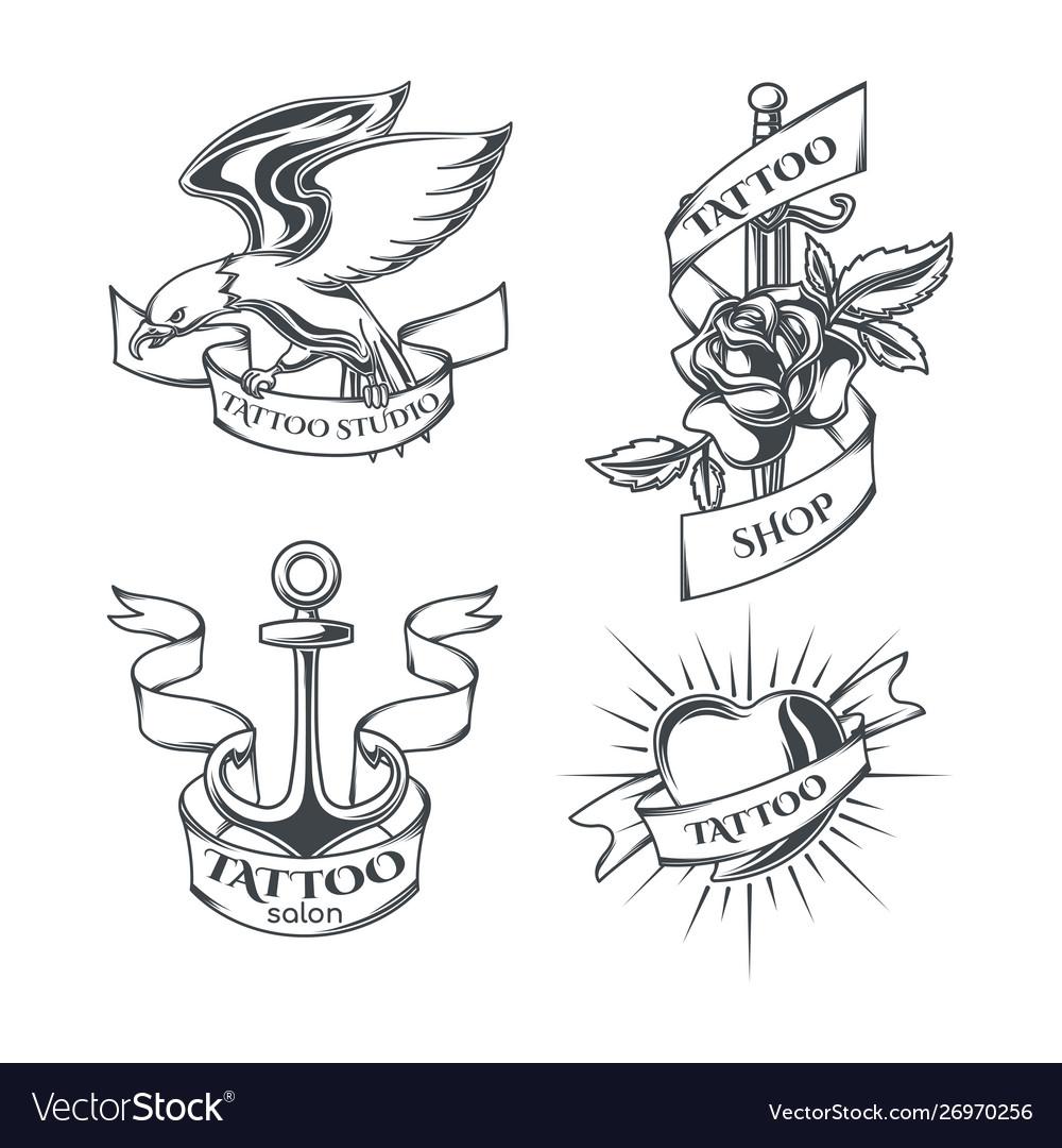Set tattoo emblems