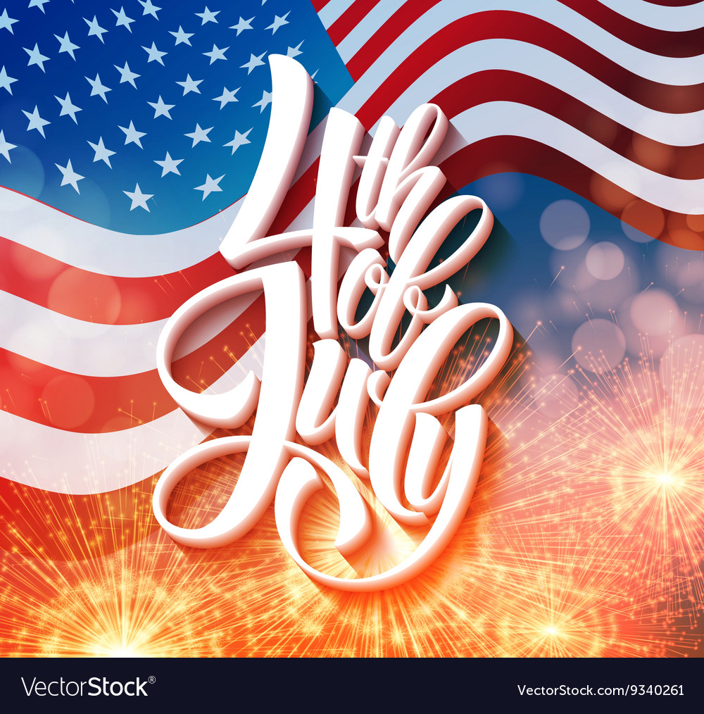American Independence Day lettering design A
