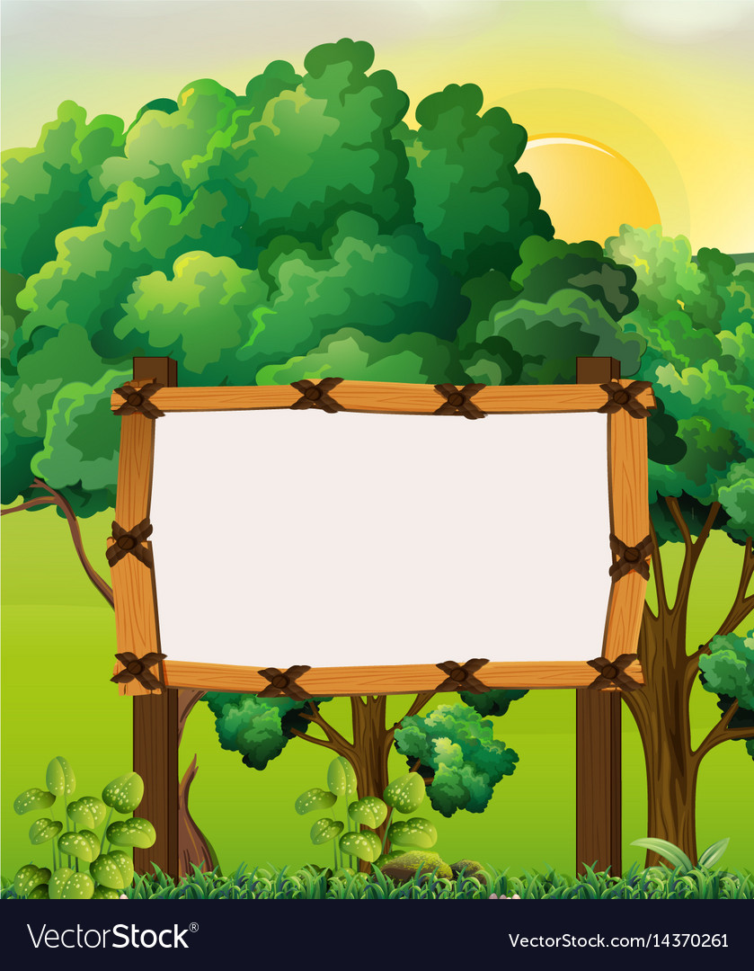 border template with forest background royalty free vector