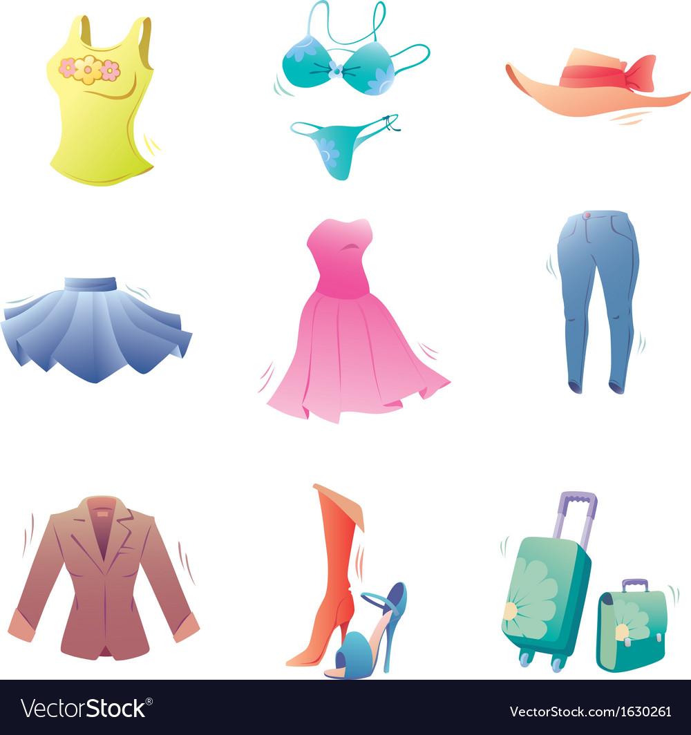 Fashion Clothes Set vector image