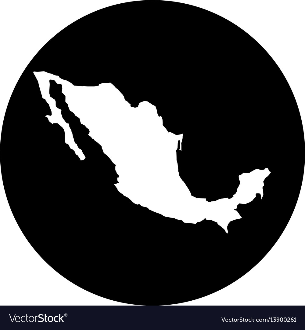 Mexican map isolated icon