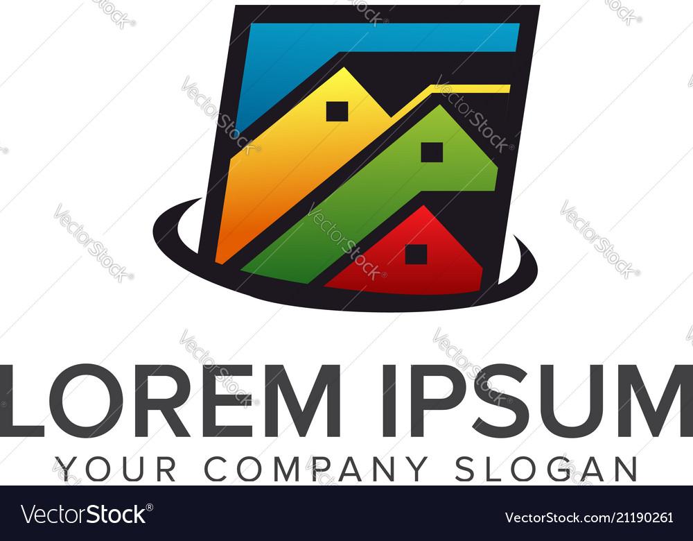 Real estate logo mortgage house real estate logo