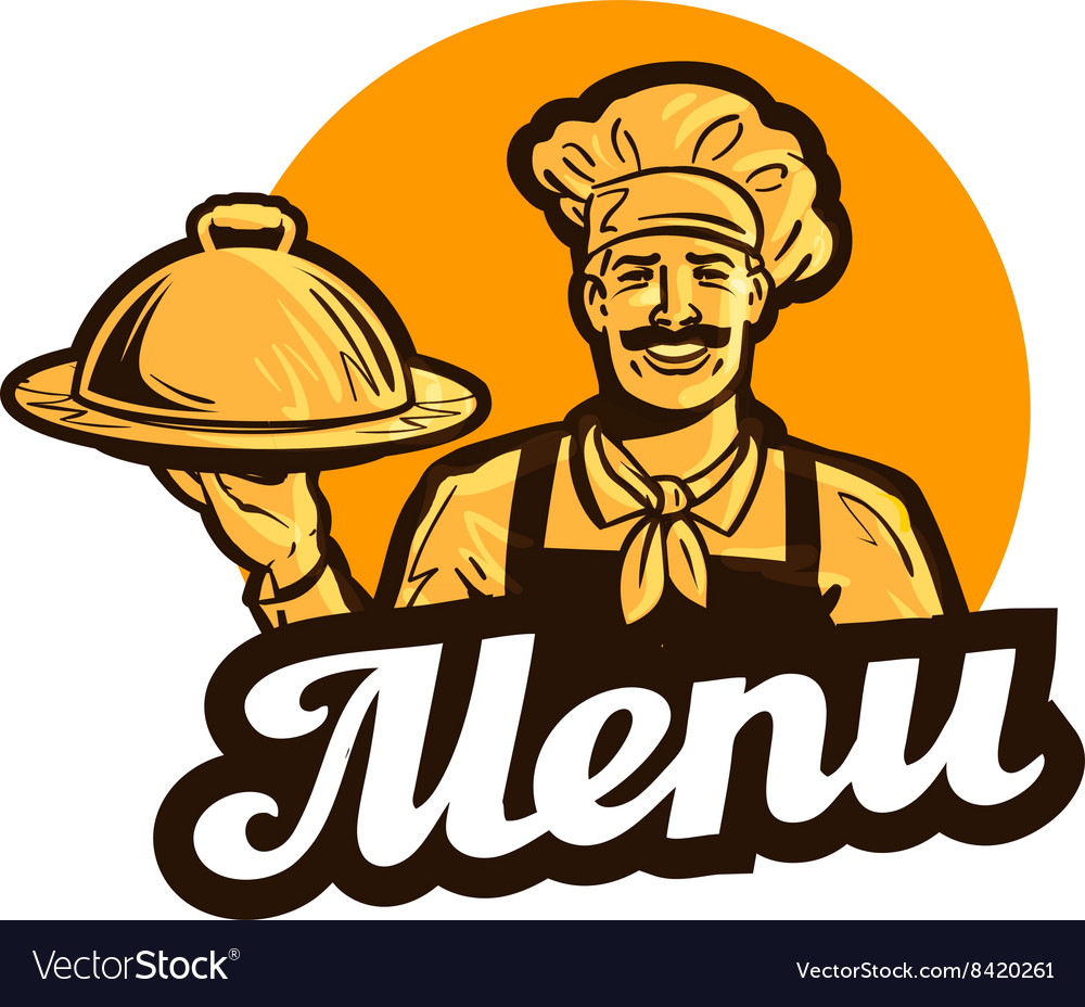 restaurant cafe logo menu dish food or royalty free vector