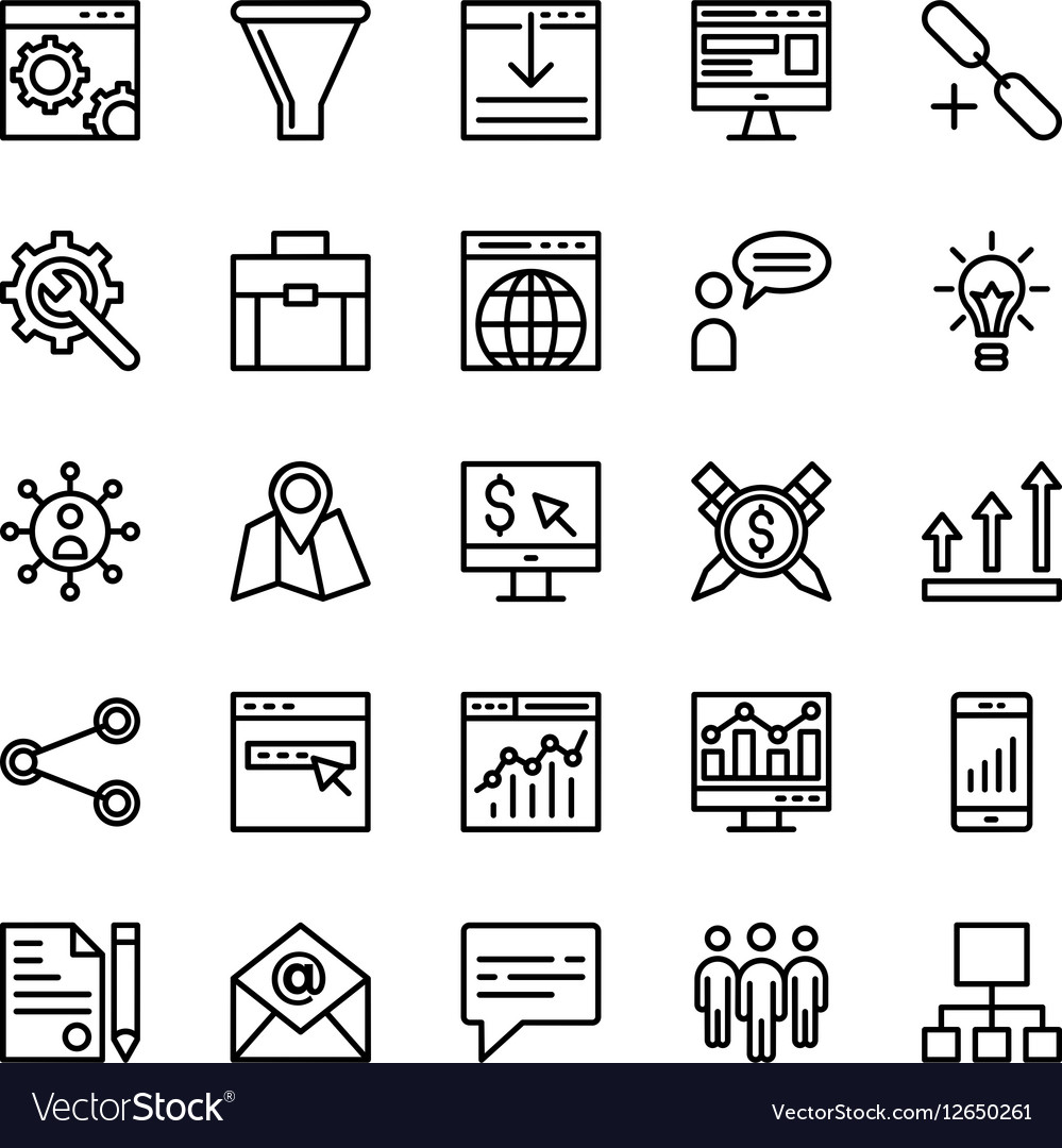Seo and Marketing Icons 2
