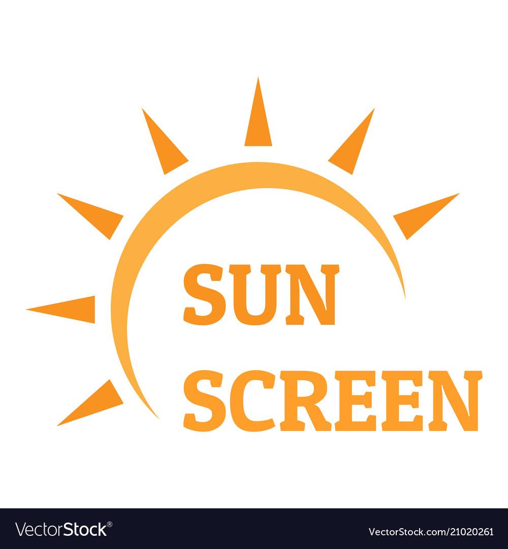 Sun screen logo flat style
