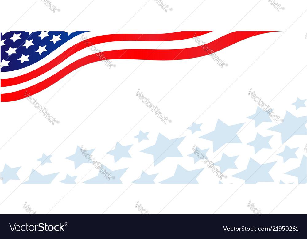 Usa flag corner patriotic banner with stars