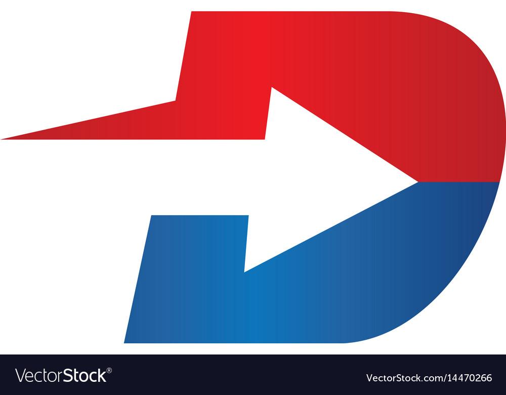 Abstract d letter logo sign design