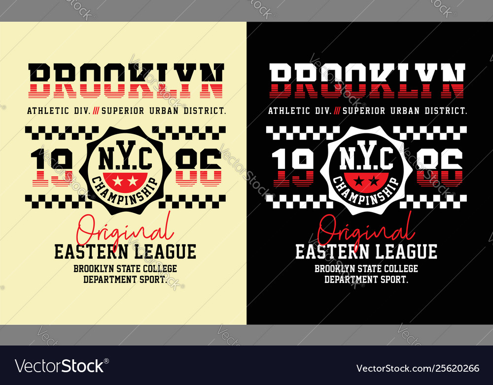 Brooklyn typography graphics