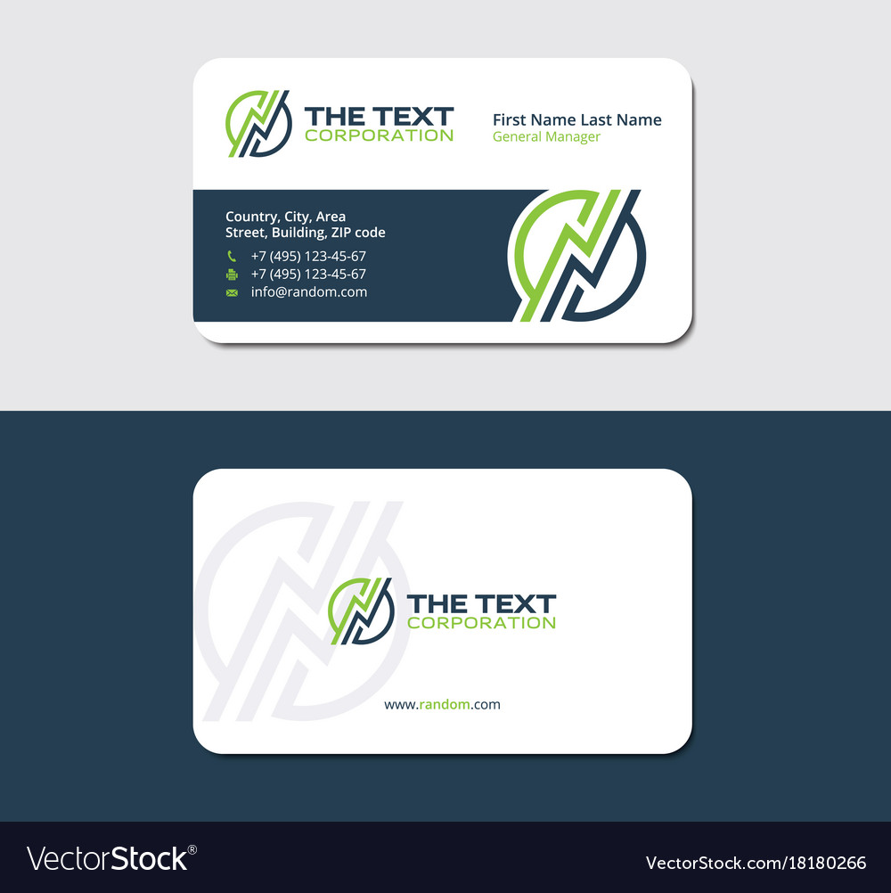 Business card for energy suppliers Royalty Free Vector Image