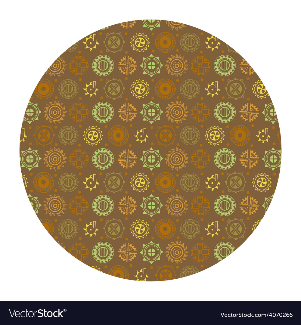 Flowers in circle seamless pattern vector image