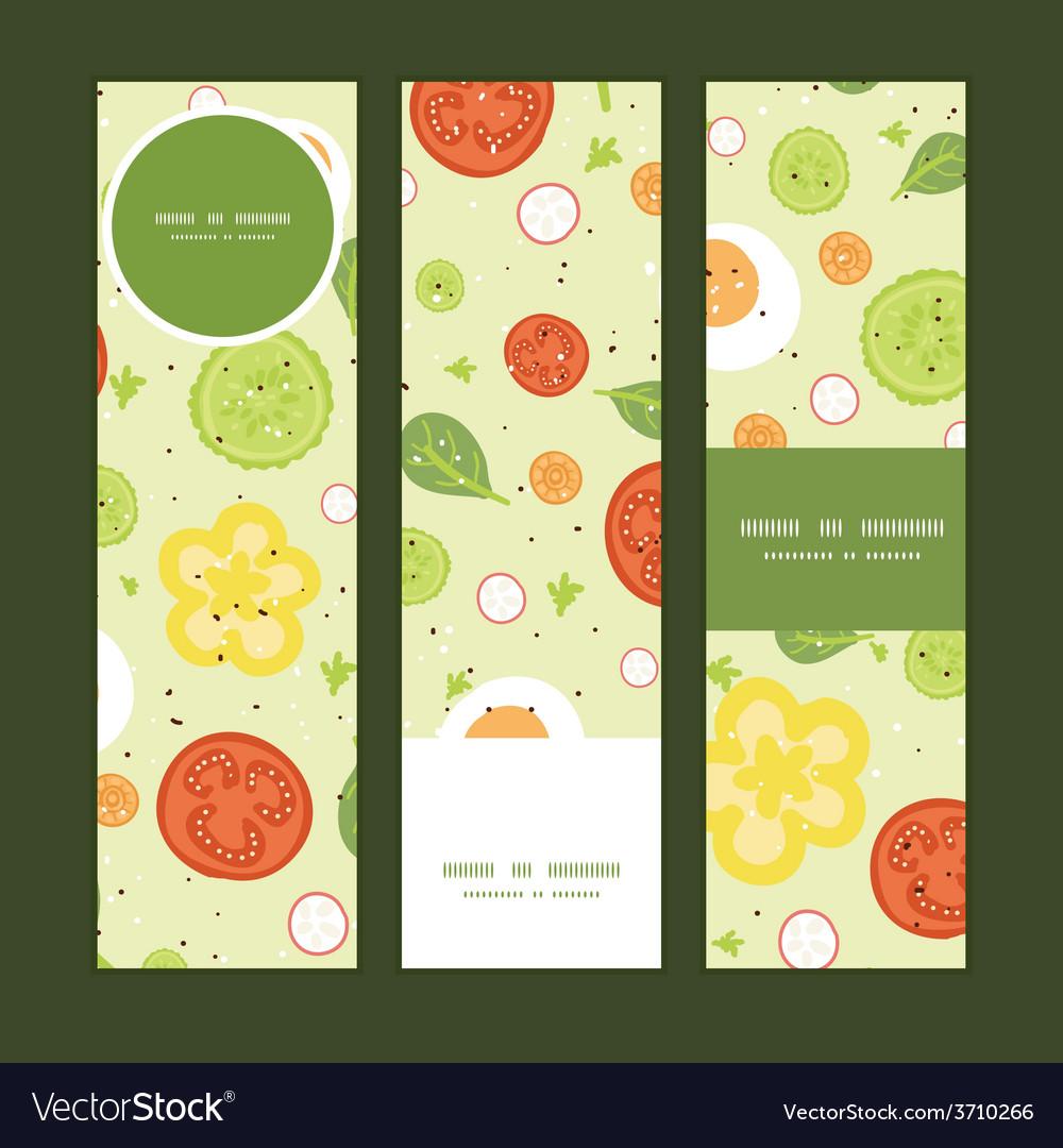 Fresh salad vertical banners set pattern