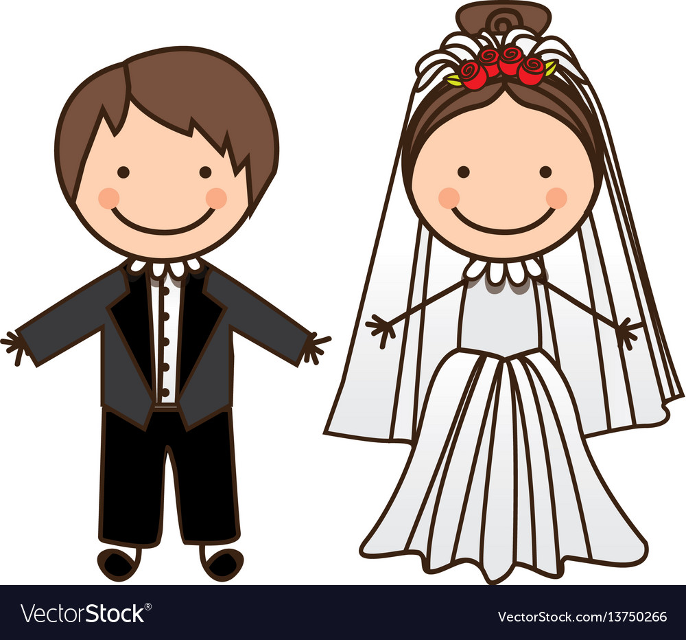 Happy Couple Married Icon Royalty Free Vector Image