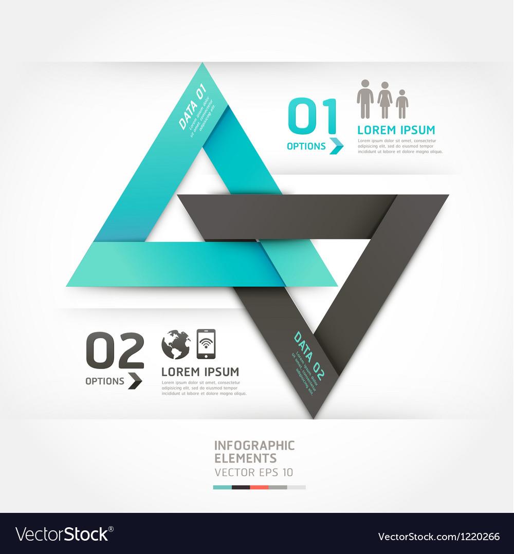Modern arrow communication origami style vector image
