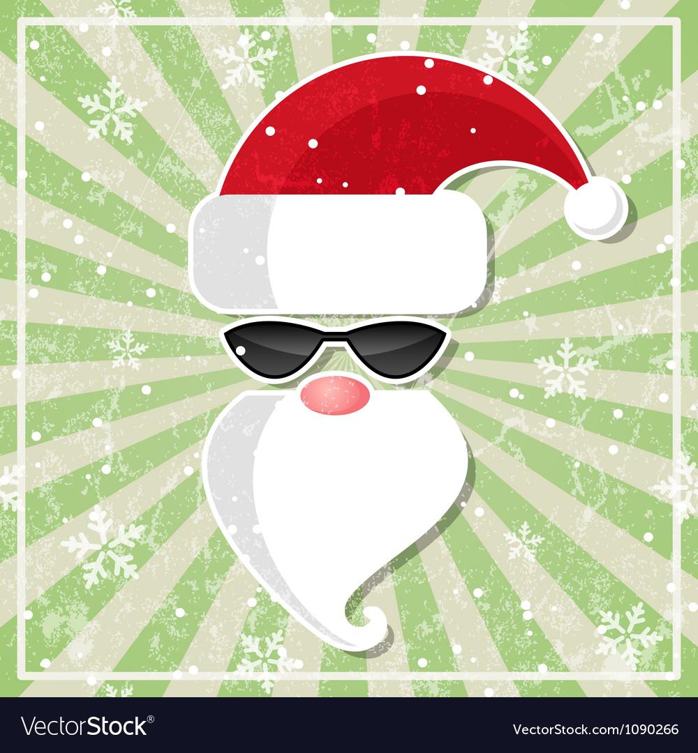 Santa in glasses with dark lenses vector image
