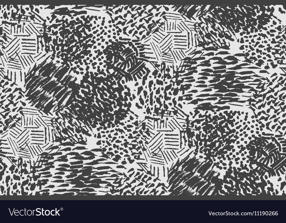 Seamless pencil scribble pattern in black and whit