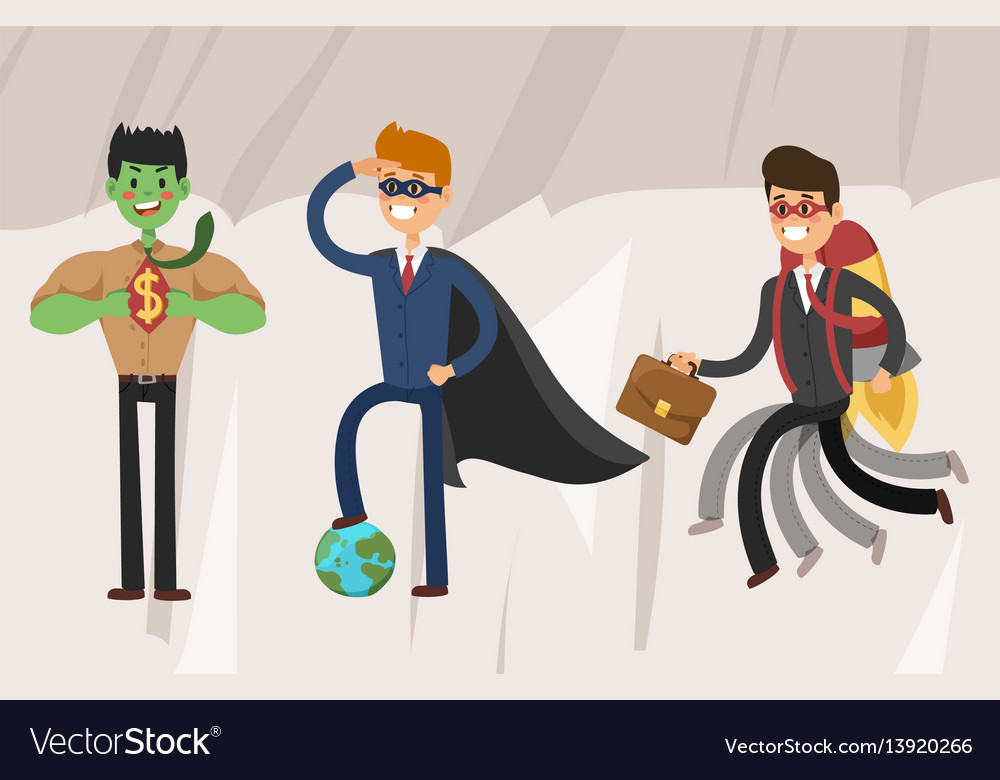 Superhero business man set