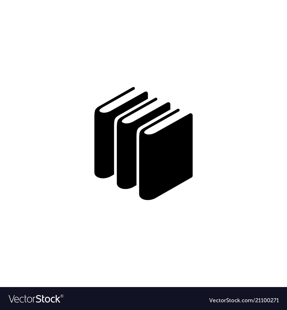 Books stack flat icon