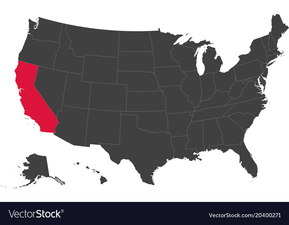Map Of California Us.Usa California Map