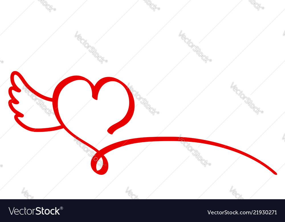 Red Poster Design Valentines Card Heart Amp Vector Image