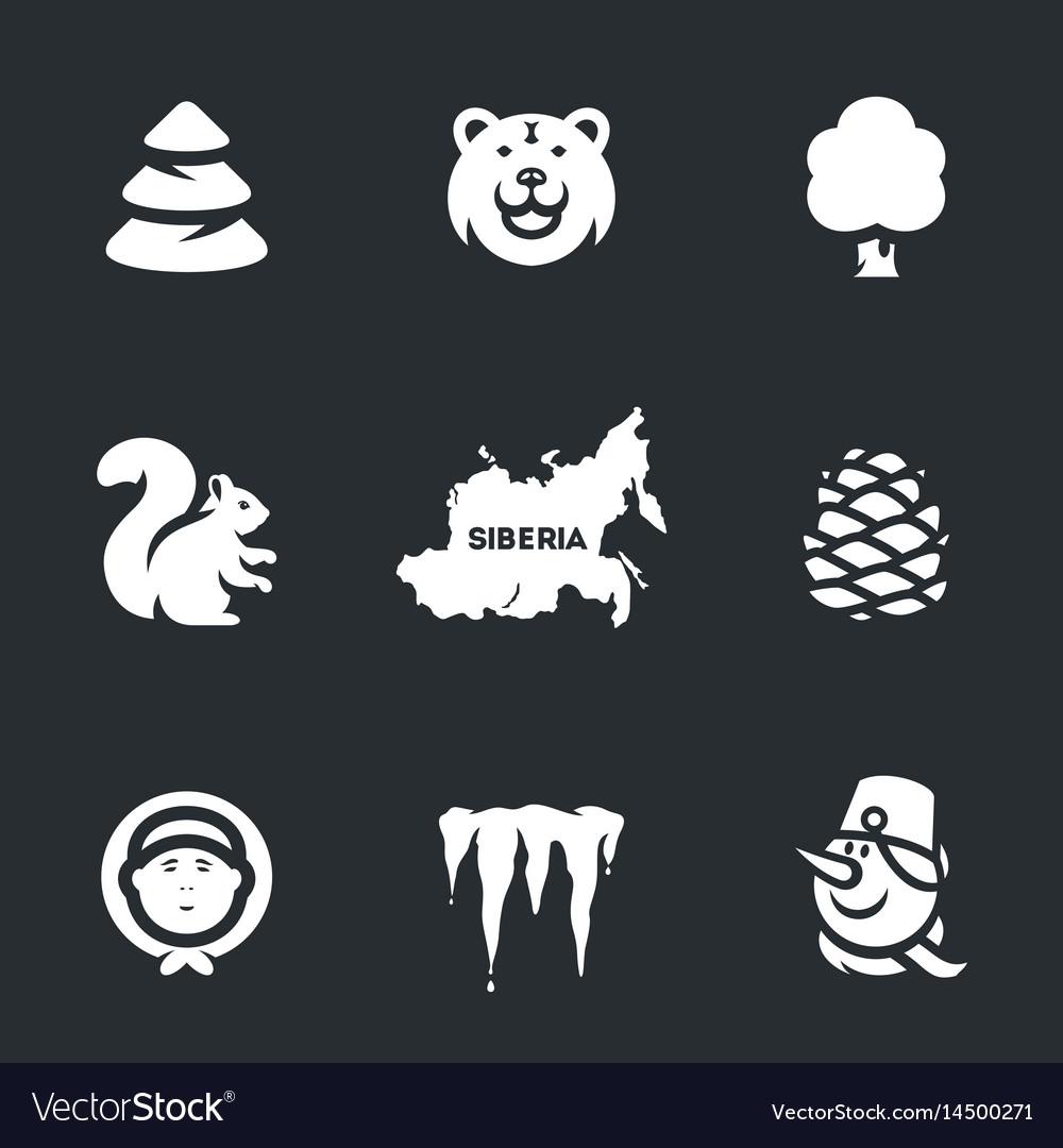 Set of siberia icons