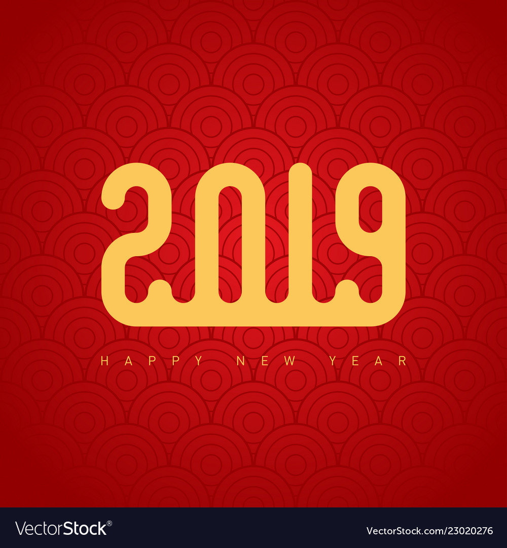 2019 happy new year the cover of the calendar or