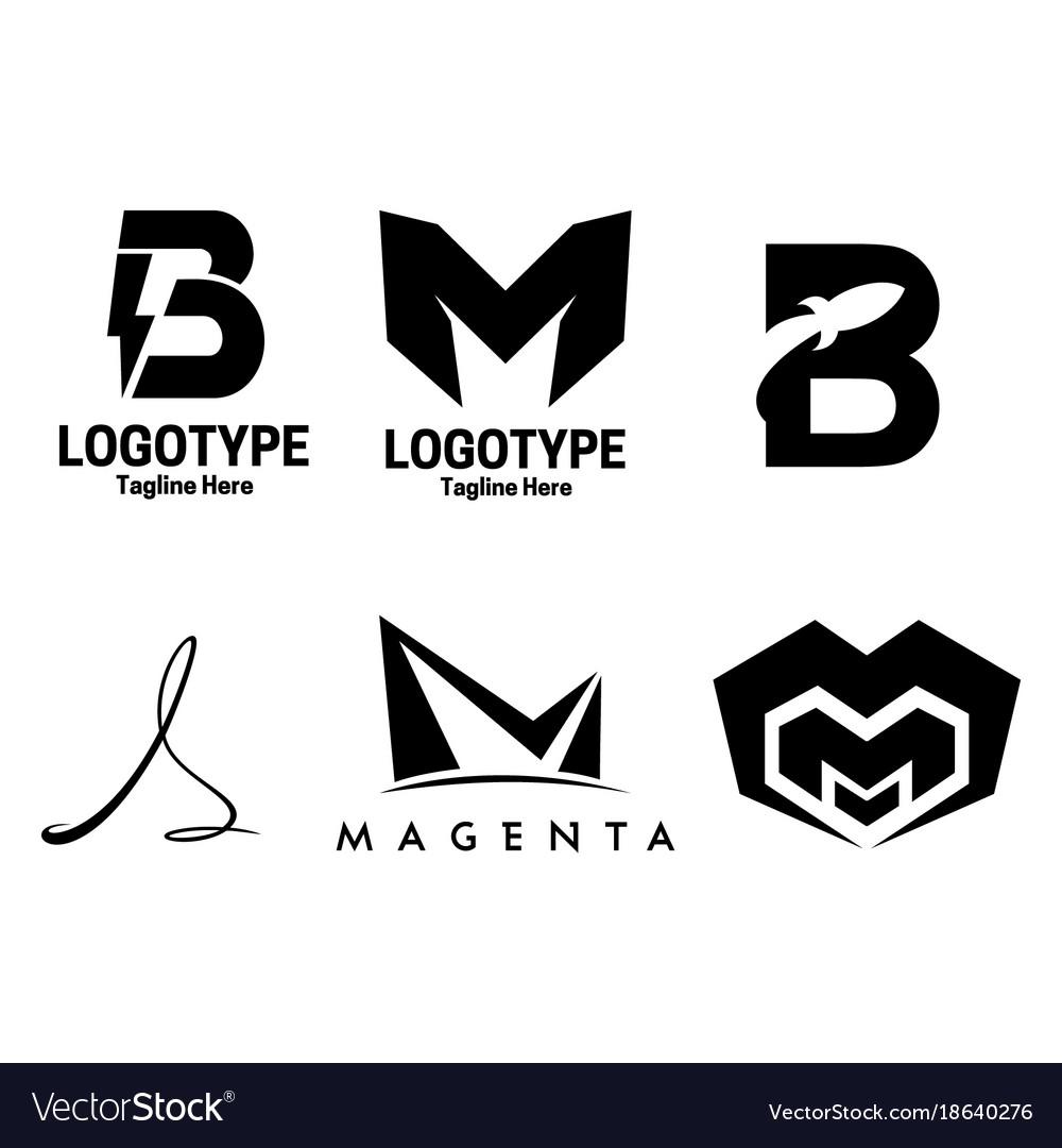 6 set letter logotype
