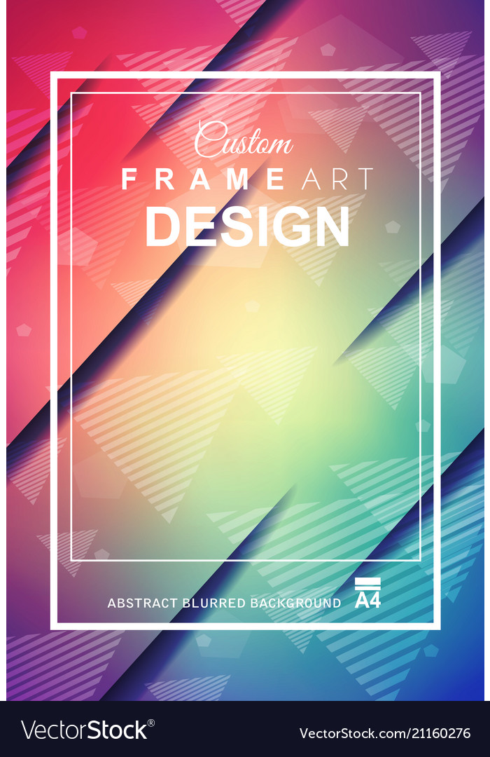 Abstract geometric colorful background with high