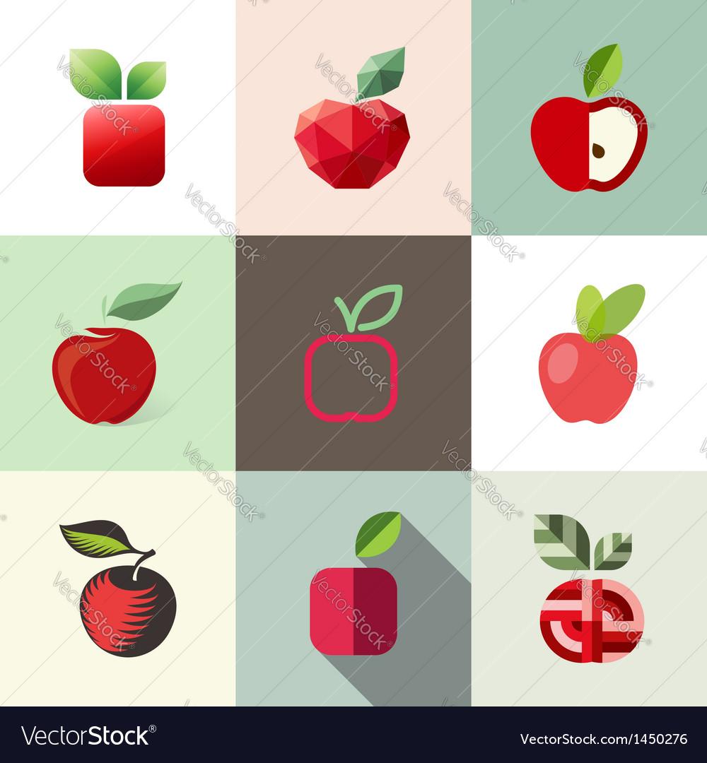 Apple - logo templates set - elements for design
