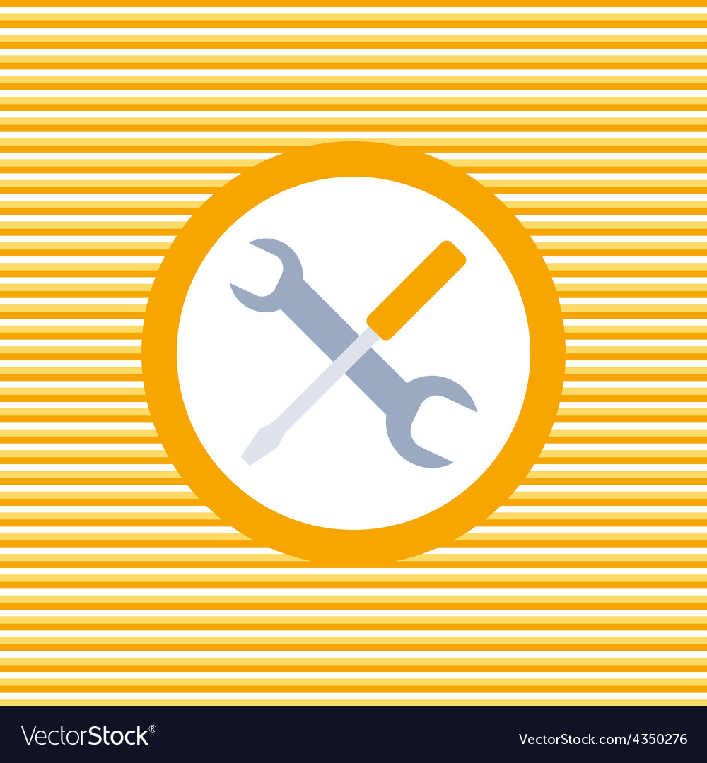 Auto service color flat icon