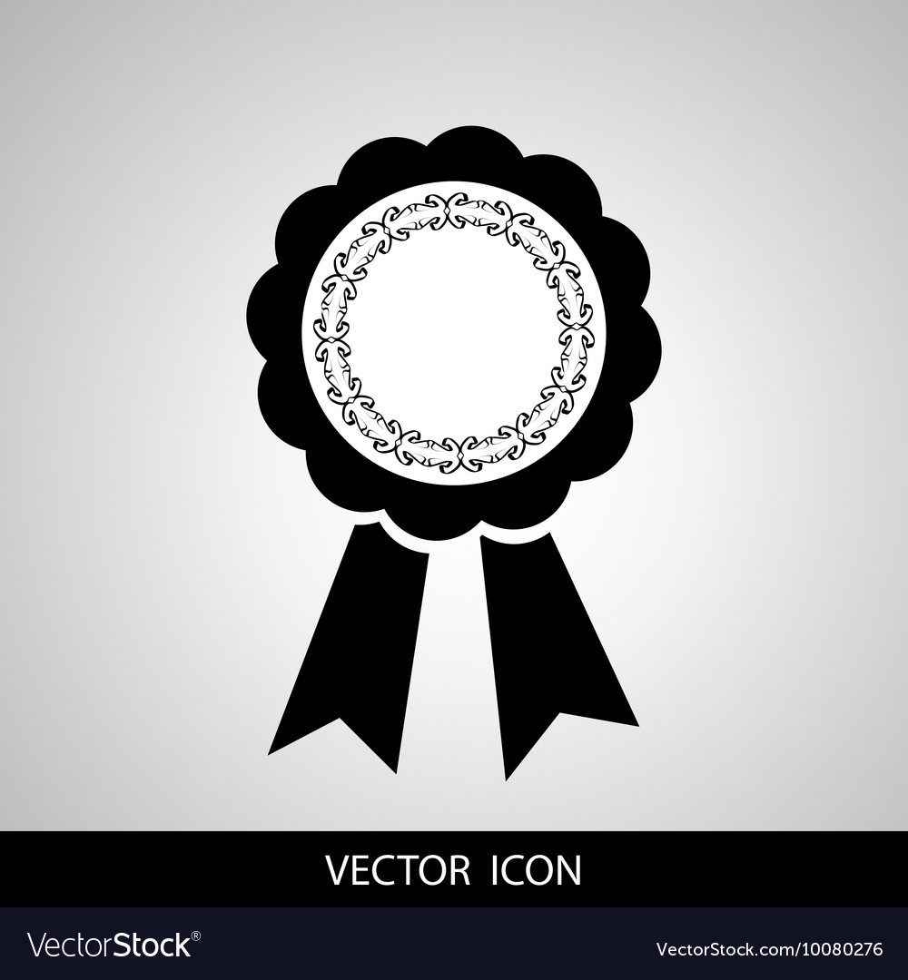 Award ribbon icon Flat design style