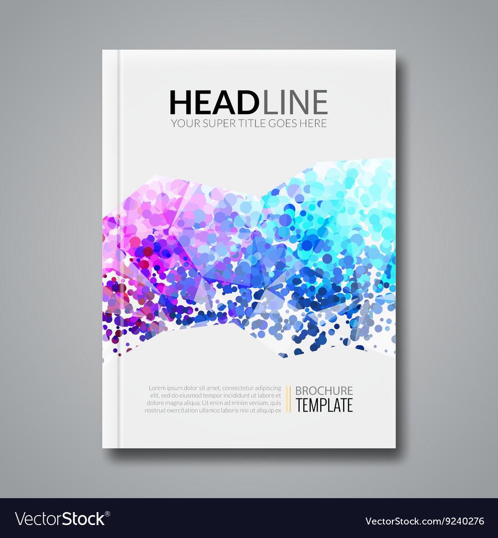 business report design flyer template background vector image