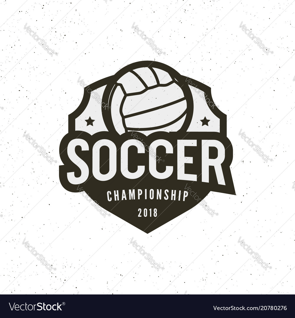 Football soccer logo sport emblem