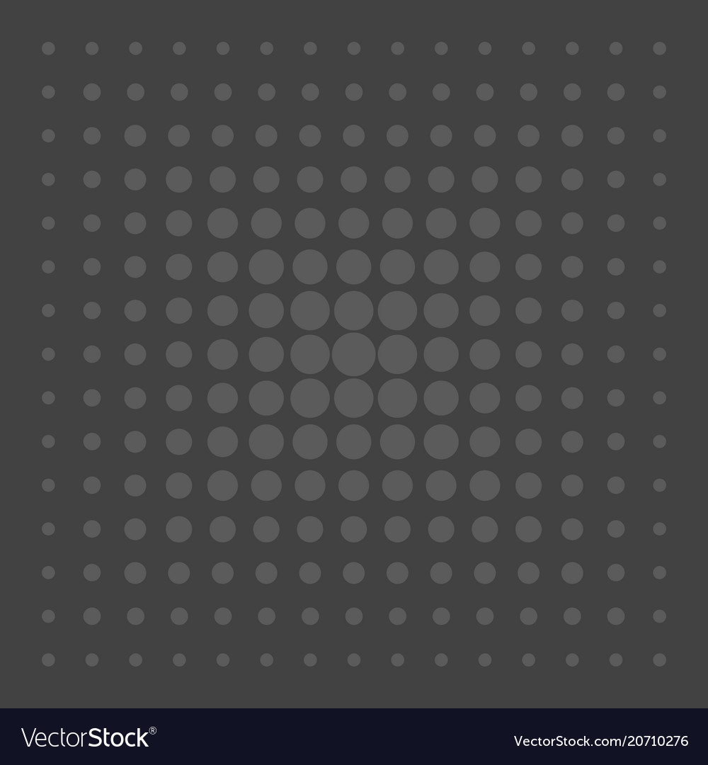 Grey comic pattern dots on black background