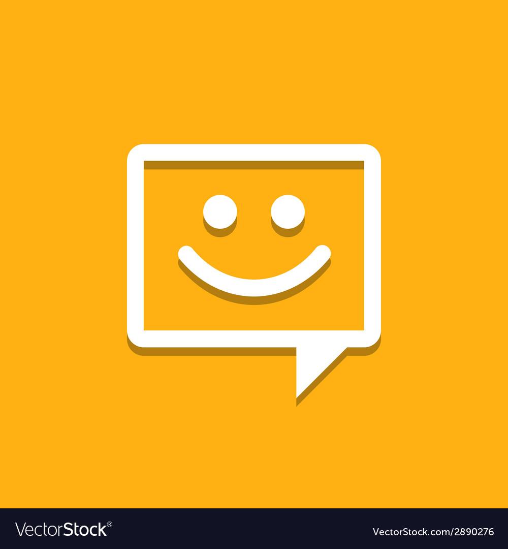 Happy Chat Icon vector image