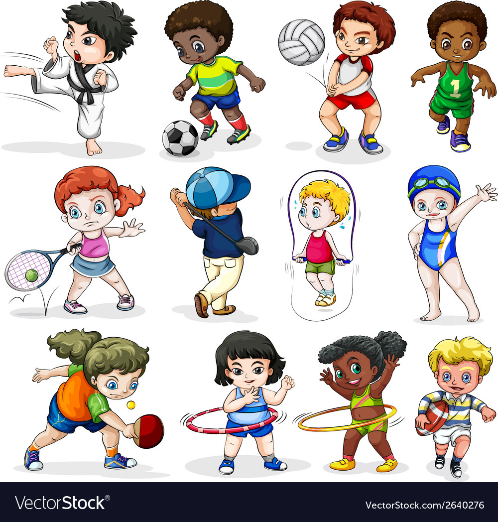 sports different activities vector engaging